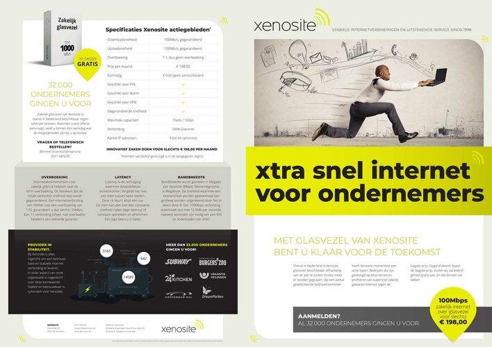 Xtra snel internet voor ondernemers bij Xenosite