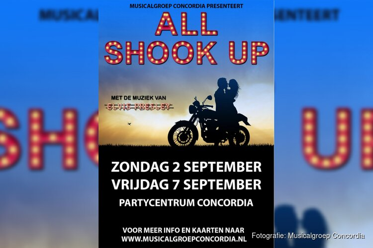 Grootste hits van Elvis Presley in All Shook Up door Musicalgroep Concordia