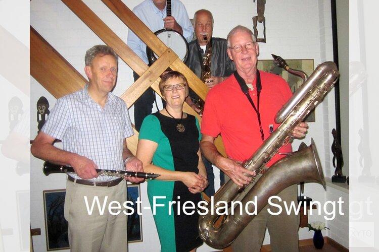 """""""West Friesland Swingt"""", de 5-hoofdige Jazzformatie oude stijl vanuit West-Friesland"""