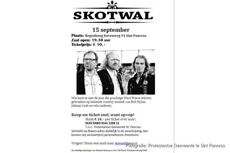 Skotwal geeft op 15 september een optreden in Sint Pancras