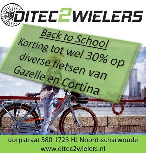 Back 2 School-korting bij Ditec2Wielers