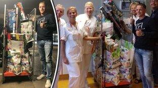 Joris wint 90 seconden gratis winkelen en doneert 'buit' aan zieke kinderen