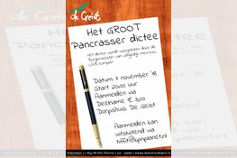 Pancrasser Dictee is er weer op 7 november