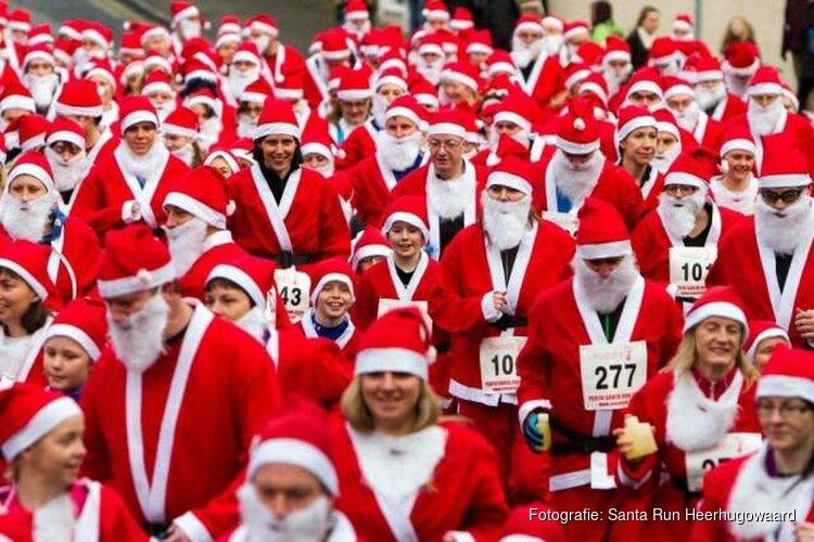 Zondag is de 4e Santa Run Heerhugowaard