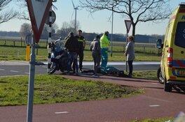 Fietster gewond bij aanrijding met scooter
