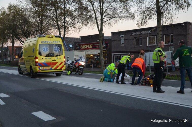 Motorrijder gewond bij ongeval Noord-Scharwoude