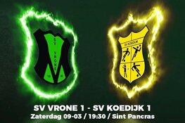 SV Vrone en SV Koedijk klaar voor de derby