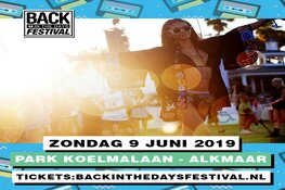 Back In The Days Festival op zondag 9 juni