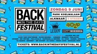 Back In The Days Festival op zondag 9 juni