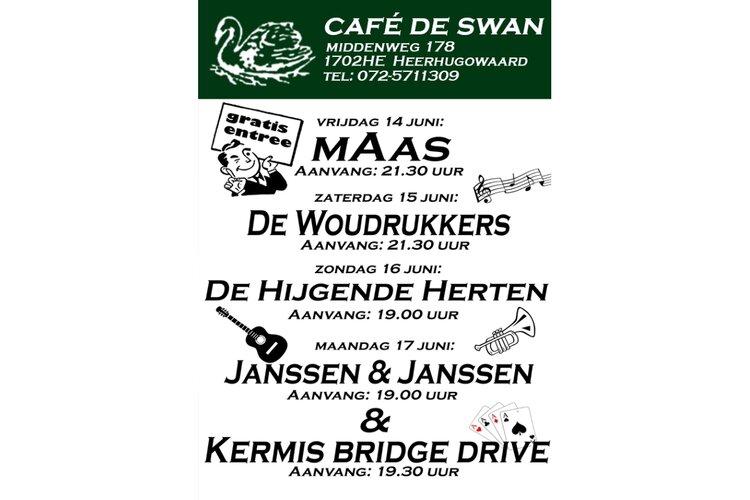 Kermisprogramma Cafe de Swan