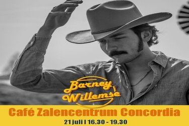 Barney Willemse zondag live in Partycentrum Concordia