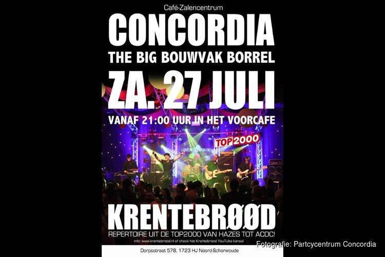 Bouwvakborrel met Krentebrøød in Concordia