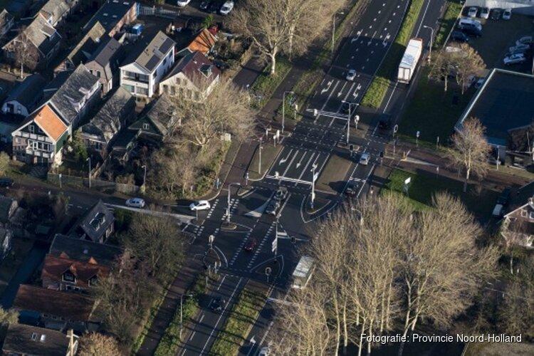 Voorrangsplein en rotonde verbeteren verkeerssituatie bij Noord-Scharwoude(N504)
