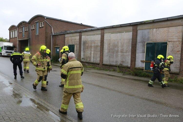 Brand in voormalige fabriekshal