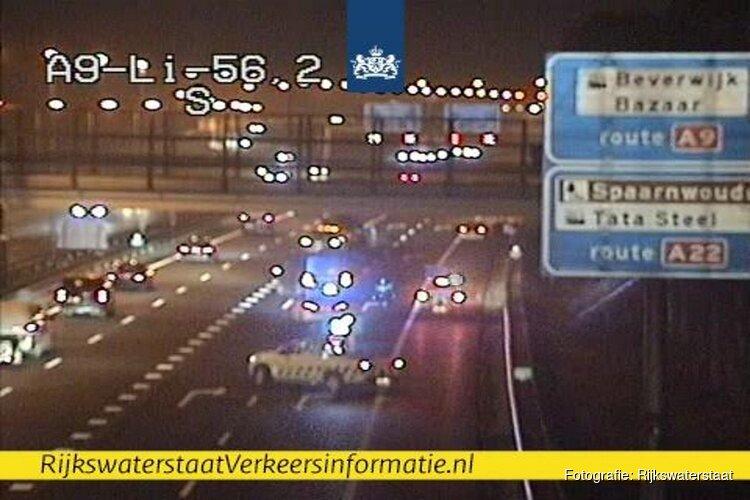 Ongeluk op A9 bij Beverwijk: bijna uur file richting Haarlem