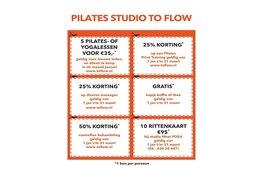Komende zondag feestelijke opening Pilates Studio To Flow