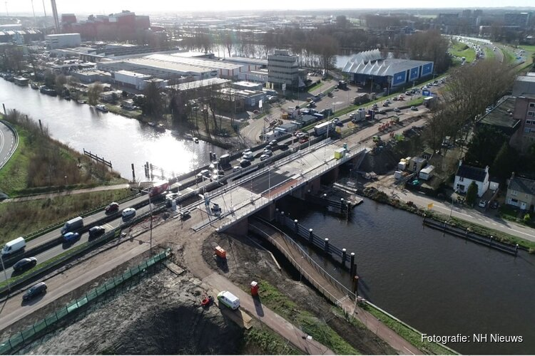 Na periode van werkzaamheden is de Leeghwaterbrug weer open voor verkeer