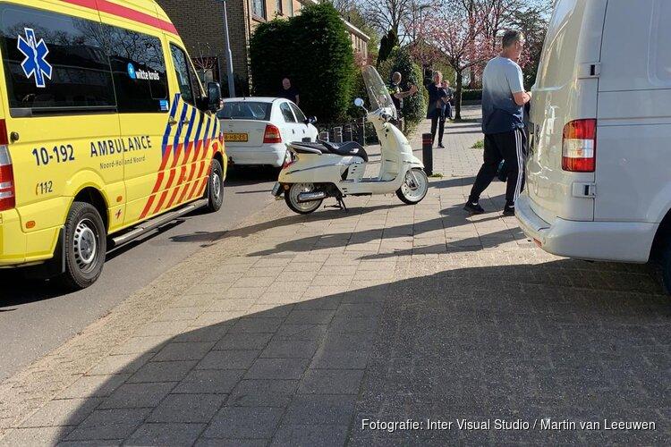 Scooterrijder aangereden in Noord-Scharwoude