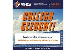 Vacature: Servicegerichte Elektromonteur bij Tim-Wai Elektrotechniek