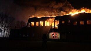 Grote brand op sportpark 't Lood