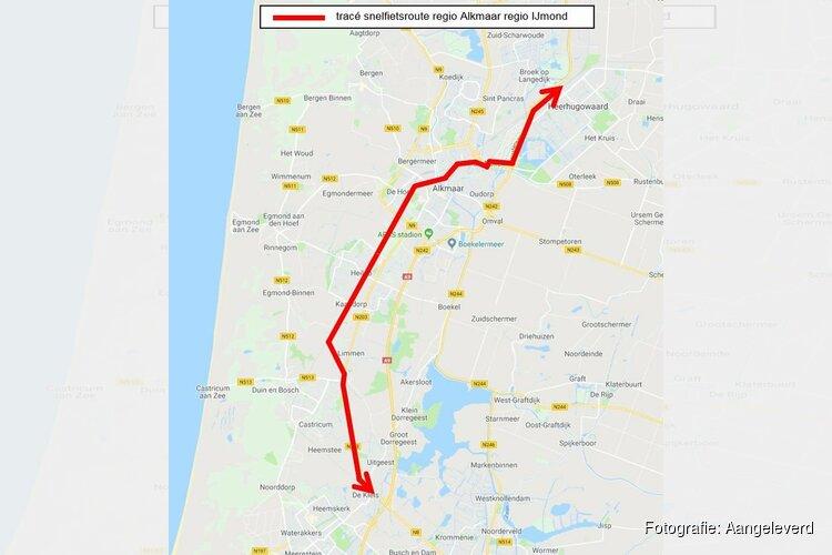 Regio Alkmaar werkt aan snelfietsroute tussen Heerhugowaard en Uitgeest