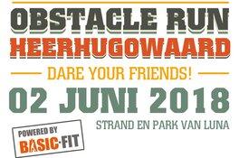 Ron Vlaar (AZ) en Nadine Broersen (WK atletiek)  bij Obstacle Run Heerhugowaard